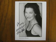 KATHRYN  HAHN   Crossing  Jordan/How to Lose a Guy  Signed  8 X 10  B & W  Photo