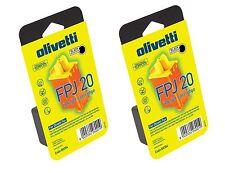 OLIVETTI FPJ20 84431 W - ORIGINALI - 2 CARTUCCIE  INK-JET - FATTURABILI