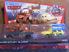 DISNEY CARS 2 MATER WITH SPY GLASSES & ACER  2-PACKS