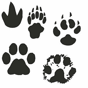 KT Animal Tracks Paw Hoof Claw Decal Sticker - Various Colours - 46 Designs