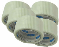 5x Gitterband Armierungsband selbstklebend 48mm x 20m Fugenband Bewehrungsband.