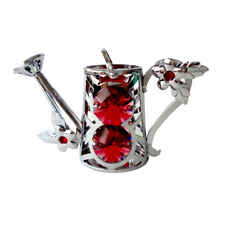 Crystocraft Watering Can Crystal Ornament With Swarovski Elements Gift Boxed