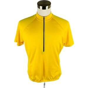 Bellwether Cycling Yellow 1/2 Zip Short Sleeve Jersey Men's X-Large XL
