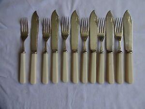 Vintage Silver Plated EPNS Fish Knives & Forks