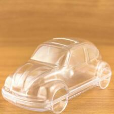 Car Shaped Fillable Transparent Plastic Container x5 Beetle Bug Herbie