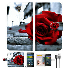 Blooming Rose Wallet Case Cover For HUAWEI Y5 Y560-- A011