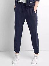 NWOT Gap Women's TENCEL seamed joggers, dark night Size ST S T    #524218 V621