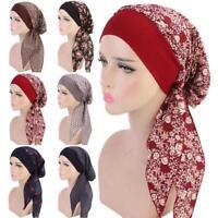 Frauen Turban Muslim Hijab Baumwolle Krebs Chemo Cap Bandana Headwear Hut M P5Y2