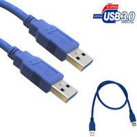 USB 3.0 Typ A Stecker zu 6FT 0.6m Verlängerungskabel Daten Sync Kabel Blau DE
