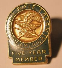 Nra Green 5 Year National Rifle Vintage Lapel Pin Tie Tack gift
