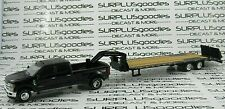 Greenlight Black 2019 Ford F-350 F350 Platinum Dually Pickup w/Gooseneck Trailer