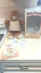 Teddy Ruxpin Bear Doll 1985 Worlds Of Wonder Box in good shape. READ DESCRIPTION