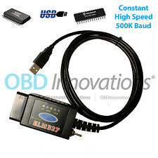 ELM327 USB OBD2 Scanner Modified HS MS CAN Switch FTDI FT232RL + PIC18F2580 500K