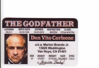 Marlon Brando the GODFATHER plastic collector card Drivers License sophia