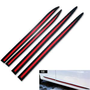 Car Side Door  Anti-collision Protector Strip Trim PVC Stickers 4Pcs Universal