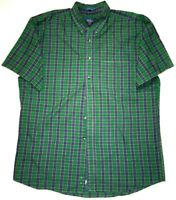 Pendleton Green Blue Plaid Button Shirt Men's Size Large L