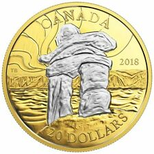 CANADA'S ICONIC INUKSHUK: GUIDING THE WAY – 2018 $20 1 OZ FINE SILVER COIN RCM