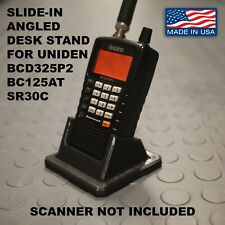 Drop-in Angled Desk Stand for Uniden SR30C / BC125AT / BCD325P2 Radio Scanners