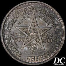 Morocco 1956 500 Francs Mohammed V ~ Y# 54