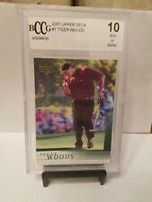 2001 Upper Deck Tiger Woods RC #1 BCCG 10 Mint