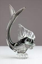 Murano Glas Fisch Schwarz - Grau Aufkleber