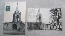 Lot de 2 CPA 70 Haute-Saône Vesoul Chapelle Notre-Dame de la Motte
