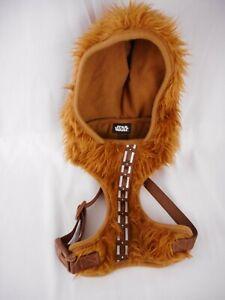 Star Wars Chewbacca Dog Hoodie Costume Size Medium Harness Petco Wookie Brown