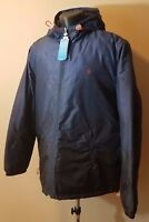 Mens Penguin Jacket w/ Hood Navy Blue Size 2XL Water Resistant Coat NWT $160