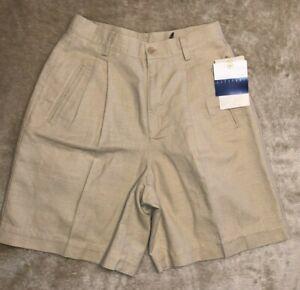 NWT! Liz Claiborne Shorts Women's Size 6 Linen Cotton Wrinkle Free Tan