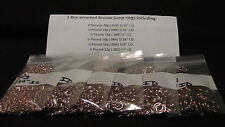 1 Box assorted Bronze jump rings, Made in the USA
