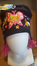 Disney Fairies Tinkerbell Girls Beanie Black/PinkTassels Hat One Size