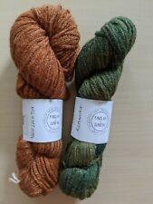 New listing 2 skeins Findlay & Juneau 87% alpaca/13% acrylic yarn, orange and green, 189yds
