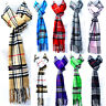 Mens Womens Winter Check Plaid Wool SCOTLAND Made 100% CASHMERE Scarf Scarves