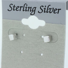 SMALL CUBE BAR STUDS  3mm   Sterling Silver 925 CUTE TRENDY BARS  EARRING CUBES