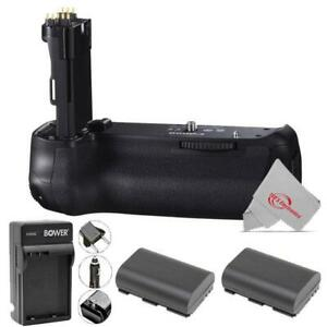 Vivitar Battery Grip for Canon 90D 80D 70D + Two Replacement Battery + Charger