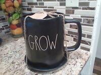 "RAE DUNN  Artisan Collection LL ""GROW"" Large Mug Planter Pot By Magenta"