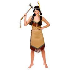 Adult NATIVE INDIAN Fancy Dress Wild West American Ladies Costume UK Sizes 8-24