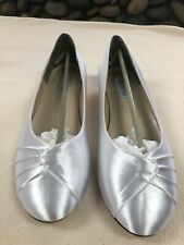 Touch Up White Satin Dyeable 11W Bridal/Prom Shoes