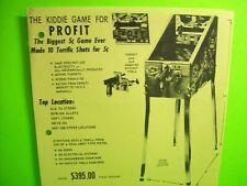 J. F. Frantz Us Marshall Original Arcade Flyer Paper Sheet Gun Kiddie Game Art