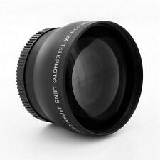 58mm 2x Super HD Telephoto Converter Lens for Canon Nikon All DSLR Cameras