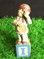 "*EDITION #60 Tom Clark Alphabet Letter Block Gnome ""I - Indian"" 1993"