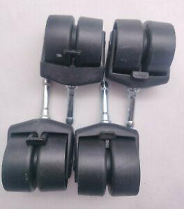 Set of 4 Jacob Holtz Locking Bed Frame Casters - Wheels w/ Low Profile Brake