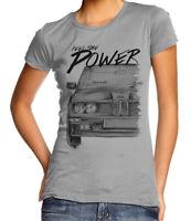 T-Shirt Damen Gr. XL hellgrau * BMW M Power Vintage * Baumwollmischung