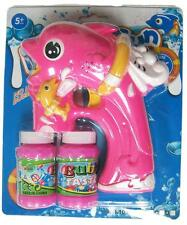LIGHT UP PINK DOLPHIN FISH BUBBLE GUN W SOUND toy bottle bubbles maker machine