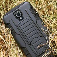 Protective Black Silicone Plastic Armor Case For Samsung Galaxy S4 Mini