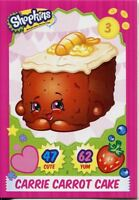 Topps Shopkins Series 1-4 Trading Cards Base Card #5 Carrie Carrot Cake