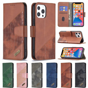 For IPhone 13 12 11 Pro Max X XR 7 8 6 Luxury Leather Wallet Folding Case Cover