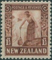 New Zealand 1935 SG558 1½d red-brown Maori Woman MLH