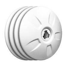 FlowBelow Aero Wheel Cover Set, 4 White Adjustable 22.5 Aerodynamic DUALS