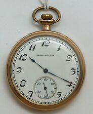 Elgin 12 Size Mens Hand Engrave Art Nouveau 17 Jewel 1921 Pocket Watch Run LW115